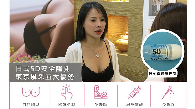 東京風采、張大力、隆乳權威、自體脂肪隆乳、魔滴motiva隆乳